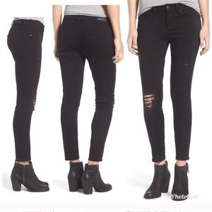 Articles of Society| Distressed Black Skinny Jeans
